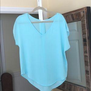 Light blue light weight blouse